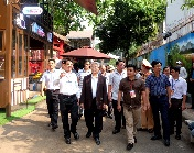 Former President Tran Duc Luong's visit to the Coffee - Book Street and Dak Lak Provincial Museum